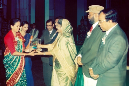 Shomita Begum Meera, Founder & Executive Director of RWDO received National Youth Award-2000 from Priminister of Bangladesh Government
