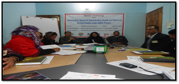 Basic Training on SRHR Session Conducted by Acting CHO & Secretary of SCC